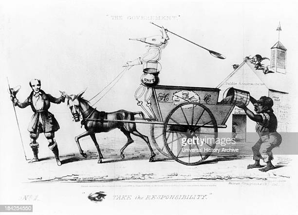 The Government a political cartoon by David Claypoole Johnston circa 1834 Lithograph print on wove paper political cartoon satirizing Andrew...