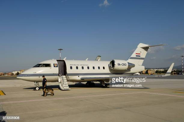 the Government Flight Service of the Republic of Croatia Bombardier Challenger 604 parked on the apron