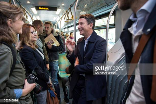 The government spokesman and potential candidate for mayor of Paris in 2020 Benjamin Grivaux is photographed for Paris Match talking with women in...