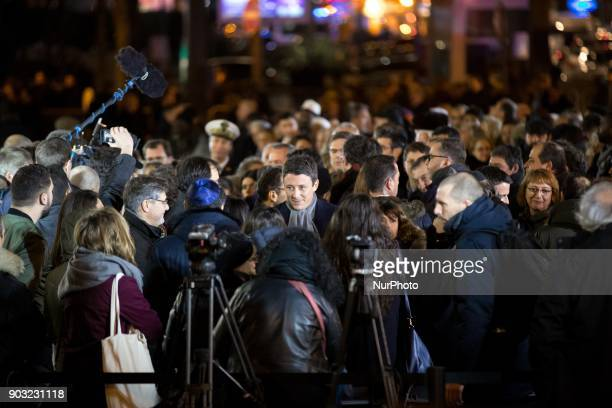 The government spokesman Benjamin Griveaux takes part in the gathering organized by the Representative Council of France's Jewish Associations...