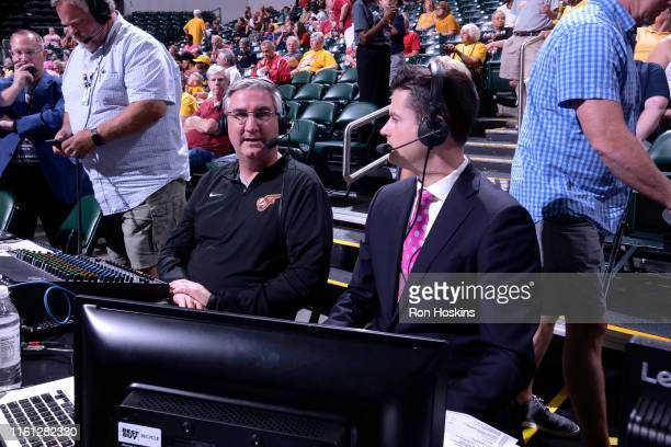 The Governor of Indiana, Eric Holcomb, attends the game on August 10, 2019 at the Bankers Life Fieldhouse in Indianapolis, Indiana. NOTE TO USER:...