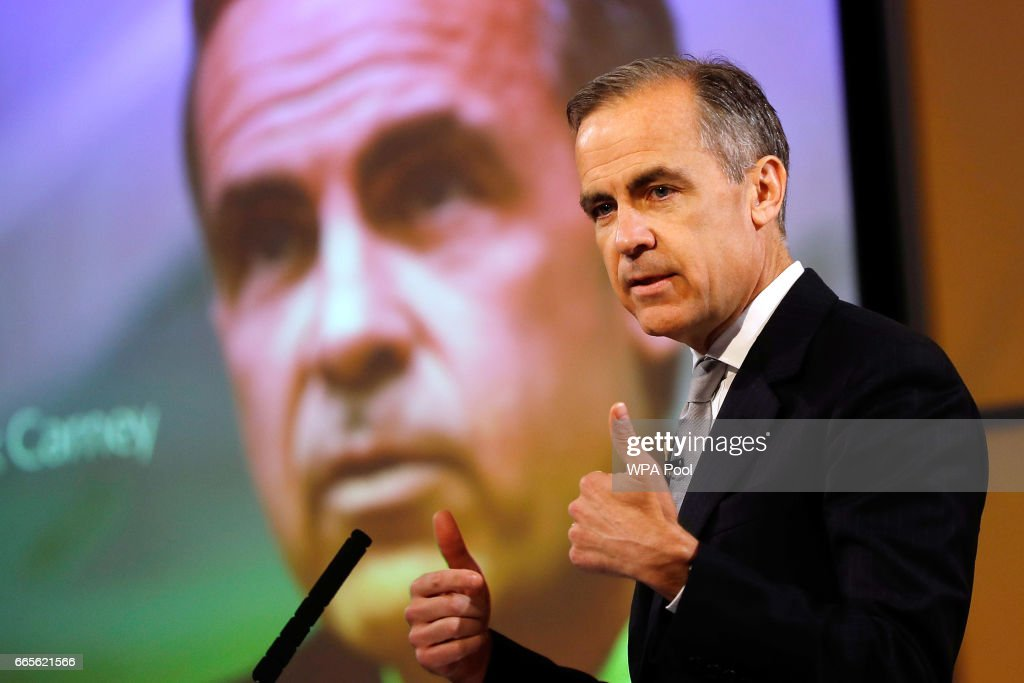 Mark Carney Delivers A Speech On The Globalisation Of Financial Services