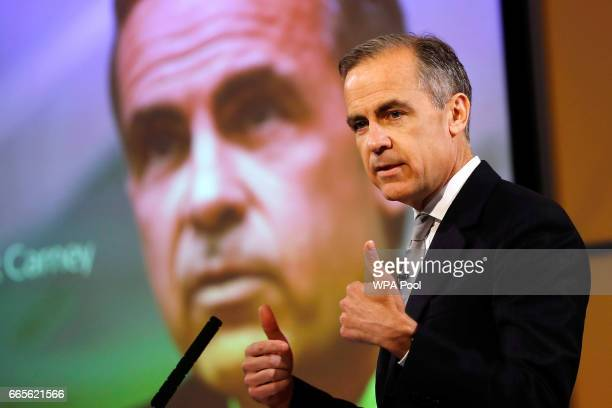 The Governor of the Bank of England Mark Carney speaks at a news agency in London's financial district Canary Wharf on the Globalisation of Financial...