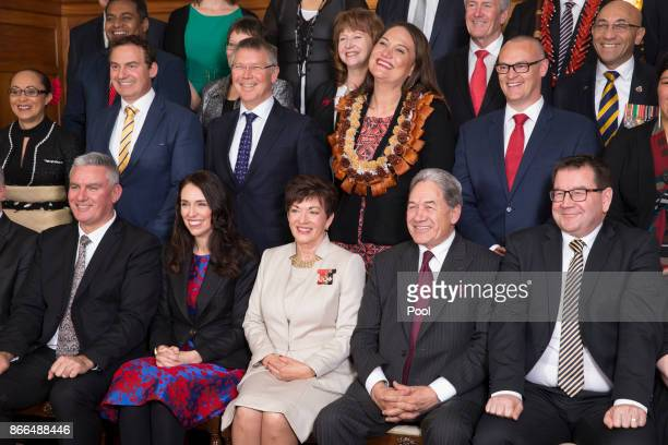 The GovernorGenaral Dame Patsy Reddy joins Prime Minister Jacinda Ardern and her new executive in an official photograph at the swearingin ceremony...