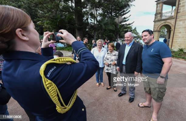The Governor-General of Australia, His Excellency General The Honourable Sir Peter Cosgrove and Lady Cosgrove have their photo taken with guests...