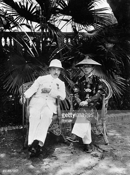 The GovernorGeneral of French Indochina Albert Sarraut with Emperor Khai Dinh of Annam Hanoi April 1918 Sarraut later served two brief terms as Prime...