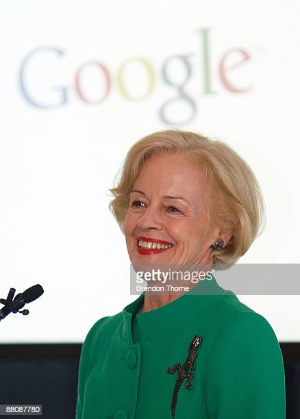 The GovernorGeneral Quentin Bryce talks during the opening of the new Sydney headquarters of internet search engine Google Australia at their Pirrama...