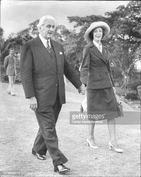 The GovernorGeneral Sir John Kerr and his new bride Ann Robson at Admiralty House today The couple were married earlier today at the Scot's Kirk...