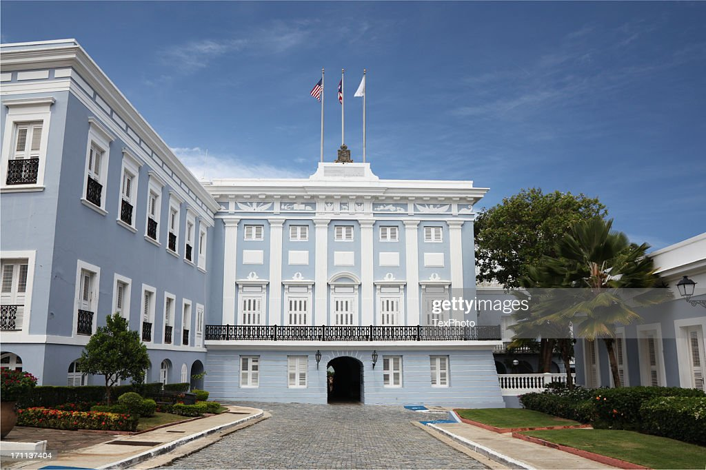 The Governors Mansion In Puerto Rico High-Res Stock Photo - Getty ...