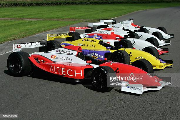 The GP Masters cars on display during a GP Masters testing at Pembrey Circuit on October 13 2005 in Pembrey Wales