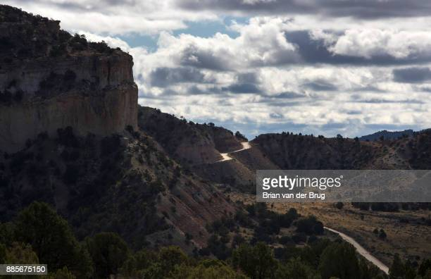 MONUMENT UTAH THURSDAY SEPTEMBER 28 2017 The graded dirt Cottonwood Road climbs a ridgeline through the Grand StaircaseEscalante National Monument...