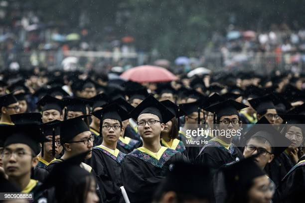 The graduates during their ceremony of Wuhan University on June 22 2018 in Wuhan ChinaChina is forecast to produce 82 million fresh graduates this...