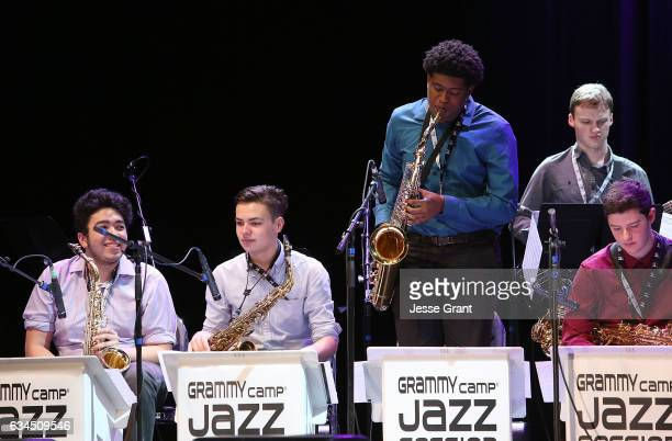 The GRAMMY Camp Jazz Band performs during the annual GRAMMY In The Schools Live – A Celebration of Music Education presented by Ford Motor Company...