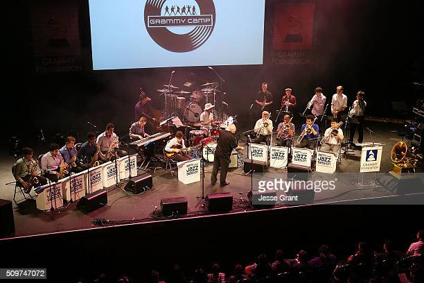 The GRAMMY Camp Jazz Band performs on stage during the GRAMMY Foundation¨Õs annual GRAMMY In The Schools Live Ð A Celebration of Music Education...