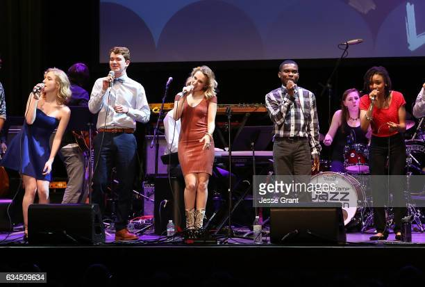 The GRAMMY Camp Jazz Choir performs during the annual GRAMMY In The Schools Live – A Celebration of Music Education presented by Ford Motor Company...