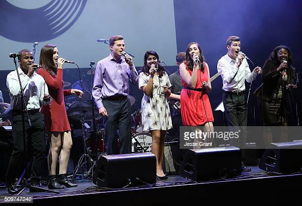 The GRAMMY Camp Jazz Choir performs on stage during the GRAMMY Foundation¨Õs annual GRAMMY In The Schools Live Ð A Celebration of Music Education...