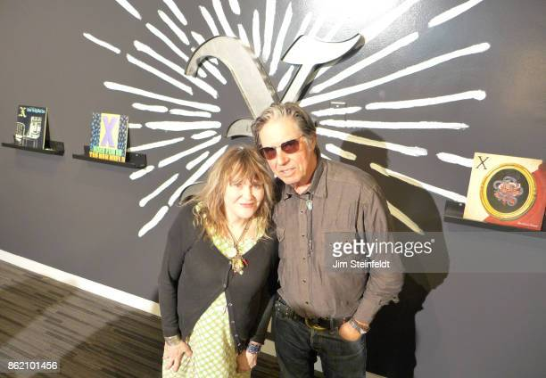 The GRAMMY Museum exhibit X 40 Years Of Punk Rock In Los Angeles at the GRAMMY museum featuring Exene Cervenka and John Doe in Los Angeles California...