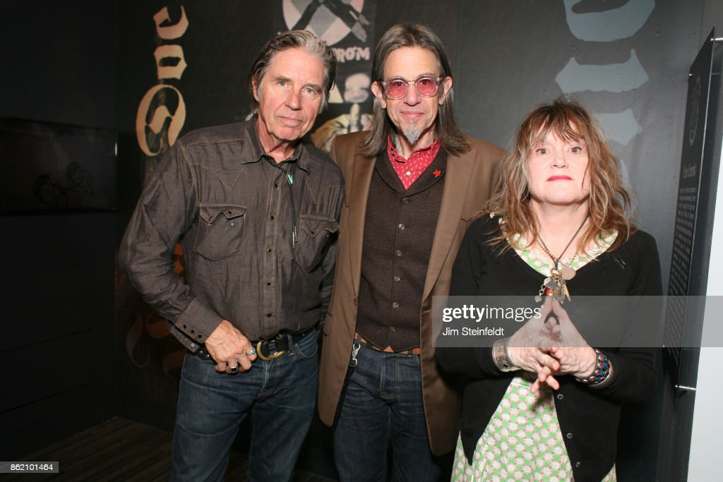 40 Years Of Punk Rock In Los Angeles at the GRAMMY museum featuring John Doe, Scott Goldman, and Exene Cervenka in Los Angeles, California on October 12, 2017.