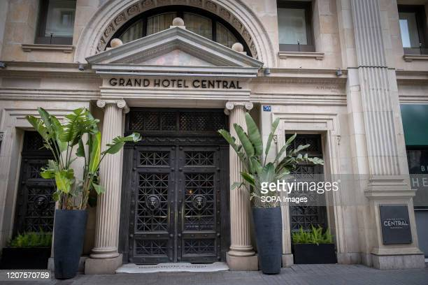 The Gran Hotel Central located in Vïa Laietana closed to the public during the corona virus pandemic Residents in Barcelona face the third day of...