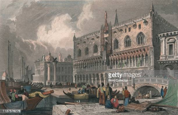 The Grand Canal Doge's Palace Venice' 1844 The Doge's Palace in Venice Italy was completed in 1424 It served as the residence for the ruler of Venice...