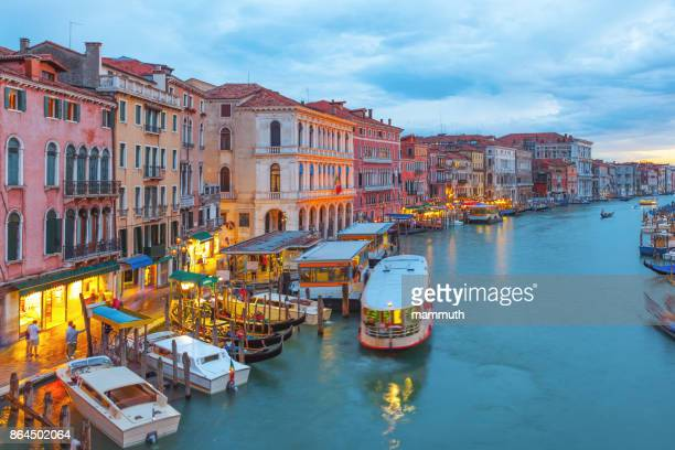 the grand canal in venice, italy - vaporetto stock photos and pictures