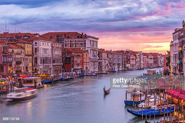 the grand canal in venice - vaporetto stock photos and pictures