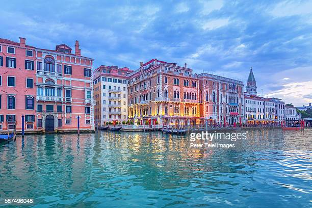 The Grand Canal in Venice with the Campanile in the background