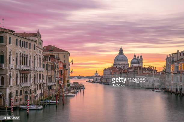 the grand canal sunrise,venice - venezia foto e immagini stock