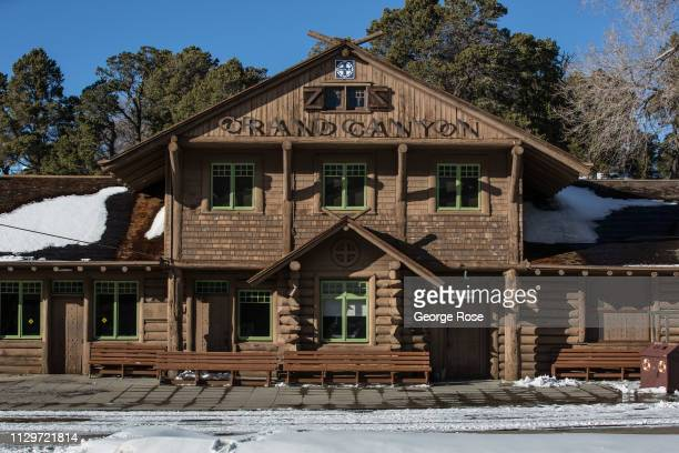 The Grand Canyon Railway station for a passenger train service that operates between Williams and the South Rim is viewed on February 8 in Grand...