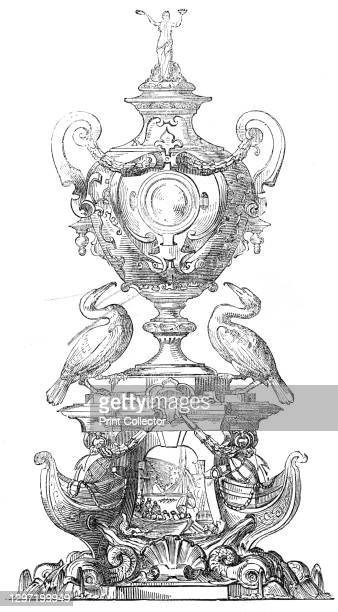 The Grand Challenge Cup, Royal Mersey Yacht Club, 1845. 'This piece of extremely handsome silver work, standing nearly three feet high, has been...