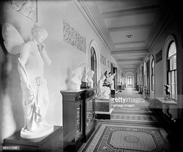 The Grand Corridor Osborne House Isle of Wight 1880s Osborne House on the Isle of Wight was built for Queen Victoria and Prince Albert and completed...