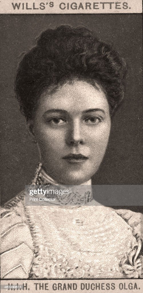 H.I.H The Grand Duchess Olga, 1908.Artist: WD & HO Wills : Photo d'actualité