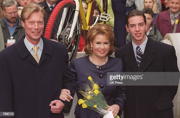 The Grand Duke and Duchess of Luxembourg and their son right meet with the public as part of a two day celebration for the Duke's accession April 6...