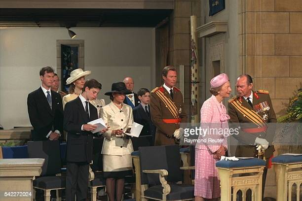 The Grand Duke and his family attending mass.