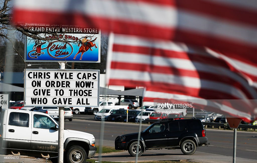 The Grand Entry Western Store advertises 'Chris Kyle' hats for sale