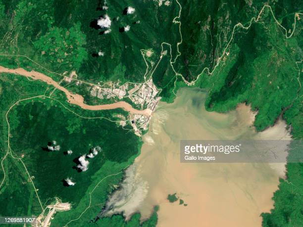 The Grand Ethiopian Renaissance Dam reservoir filling.