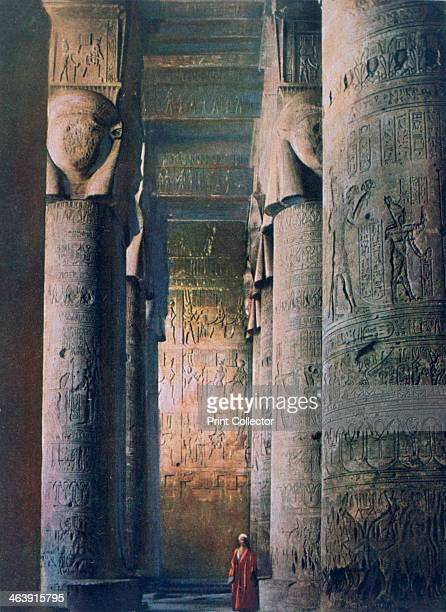 The Grand Hall, Temple of Hathor, Dendera, Egypt, 20th century. The Temple of Hathor at Dendera was probably built in the 1st century BC in the late...