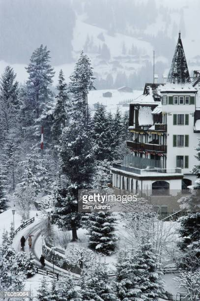 The Grand Hotel Alpina in Gstaad Switzerland February 1977
