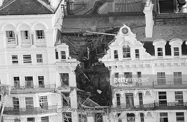 The Grand Hotel in Brighton after a bombing by the IRA during the Conservative Party Conference 12th October 1984
