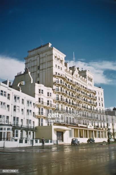 The Grand Hotel in Brighton, Sussex, February 1957.