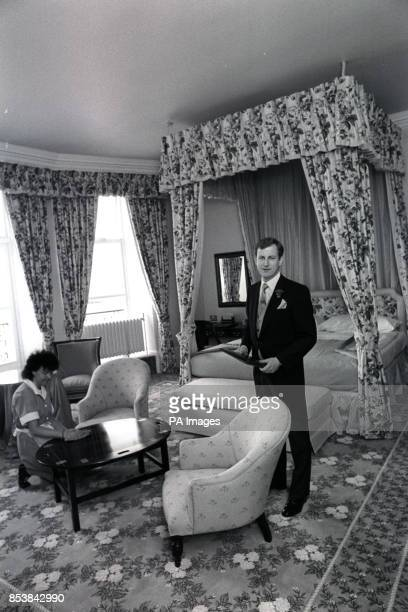 The Grand Hotel manager Richard Baker in the room where Prime Minister Margaret Thatcher stayed during the Conservative Party Conference, while a...