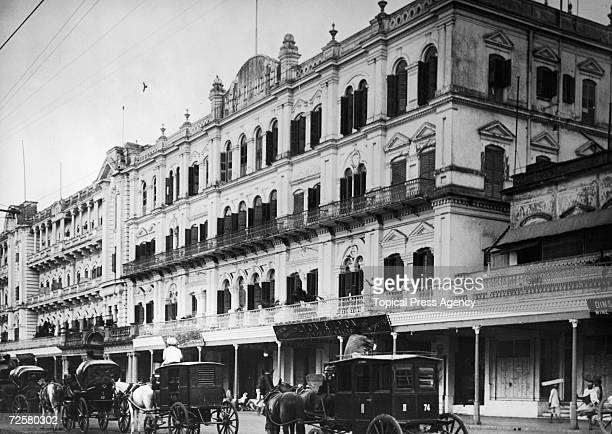 The Grand Hotel on Chowringhee Avenue Calcutta March 1928 The premises of Lyon Lyon gun and rifle makers are visible beneath