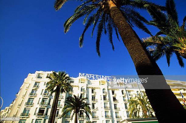 The Grand Hyatt Cannes Hôtel Martinez is a famous art deco style Grand Hotel on the Croisette in Cannes