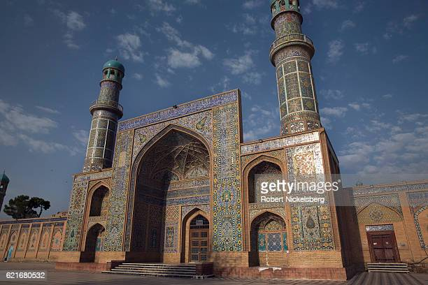 The Grand Jamia Mosque stands in central Herat Afghanistan September 10 2016 Built in the 13th century under the Ghurids the mosque in its present...