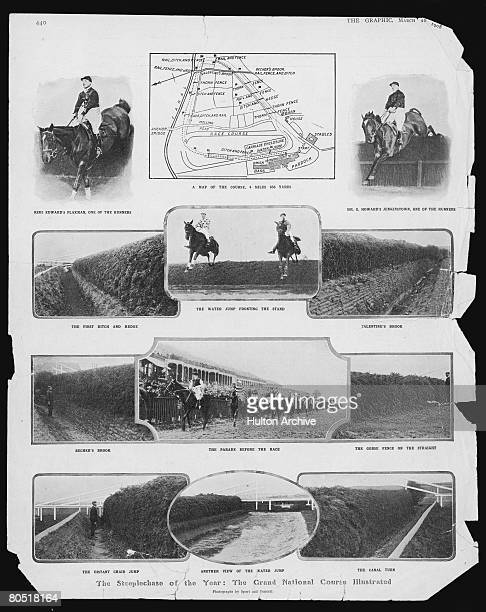 The Grand National racecourse at Aintree 1908 Published in The Graphic magazine 28th March 1908