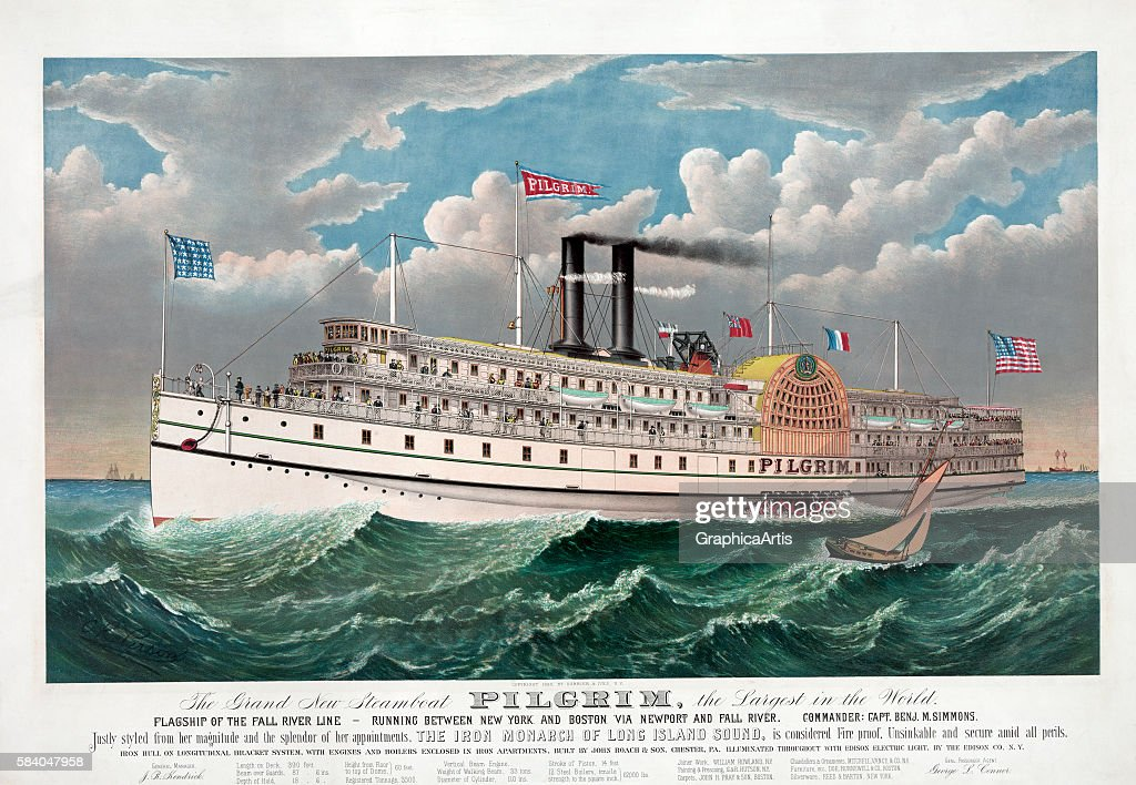 The Grand New Steamboat Pilgrim, the Largest in the World , circa