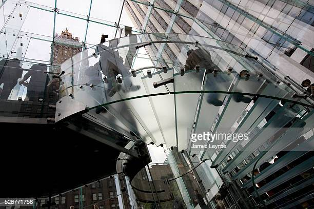 The grand opening of Apple's new flagship store on Fifth Avenue and 59th Street in the GM Building Steve Jobs designed and paid for the $9million...