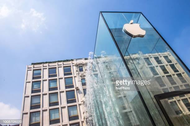 The grand opening of the new Apple Store in Piazza Liberty Milano Italy on 25 July 2018 The new Apple Store is designed by Stefan Behling from Norman...