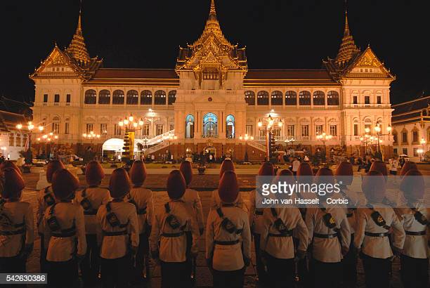 The Grand Palace during the banquet where royalty from all over the world are attending to celebrate the 60th anniversary of King Bhumibol...