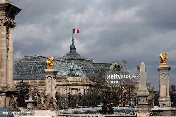 The Grand Palais is seen the day it is closed for renovation work on March 12, 2021 in Paris, France. The Grand Palais is closing its doors to the...